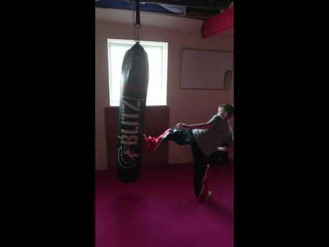 Charlie Naylor kicking high