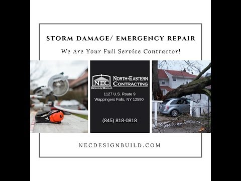 Storm Damage Emergency Repair Service Hudson Valley Contractor