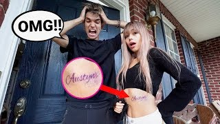 I GOT MY EX BOYFRIEND'S NAME TATTOOED PRANK!