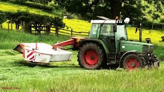 Mowing in the Fells - Mowing for Silage with Fendt.