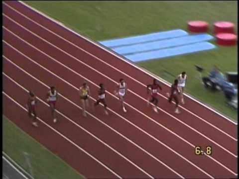 Carl Lewis-100m.Final,Helsinki,1983 World Championships