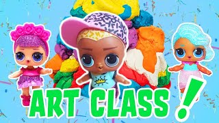 LOL Surprise Dolls Art Class! With Scribbles, Sugar Queen, and Splash Queen! | LOL Dolls Families