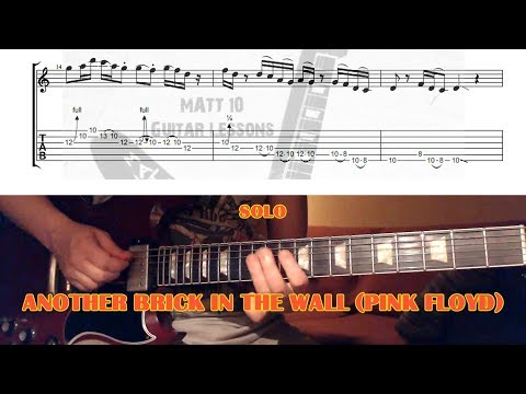 Another Brick In The Wall SOLO (Pink Floyd) GUITAR LESSON with TAB