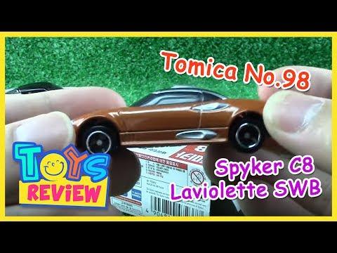 Takara Tomy Tomica 98 Spyker C8 Laviolette SWB Orange Color Diecast Car Vehicle Toy