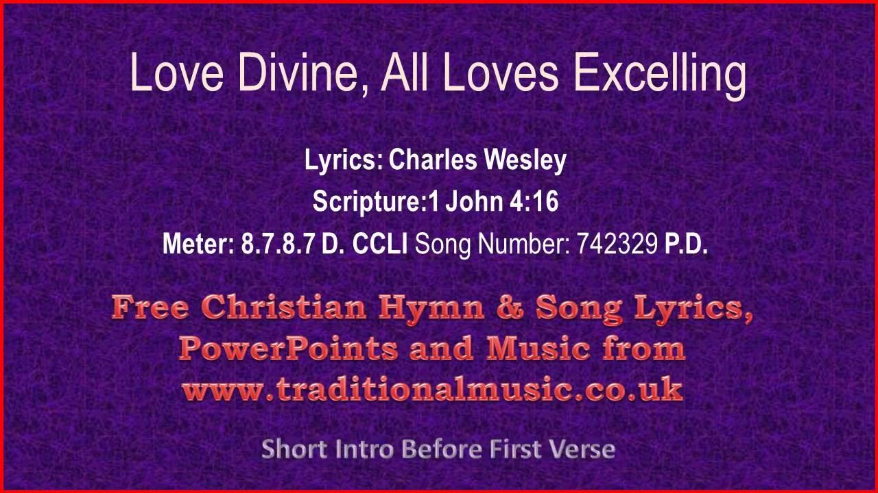 love divine all loves excelling hymn lyrics music v love divine all loves excelling hymn lyrics music v2