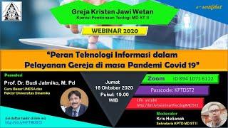 WEBINAR 2020 Peran Teknologi Informasi Dalam Pelayanan Gereja di Masa Pandemi Covid 19