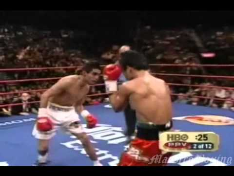 Erik Morales gives Manny Pacquiao a Boxing Lesson 1 of 3