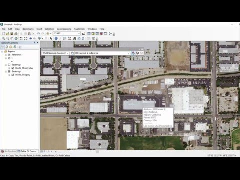 How-to add a geocoder in ArcGIS Desktop (geocoding & reverse