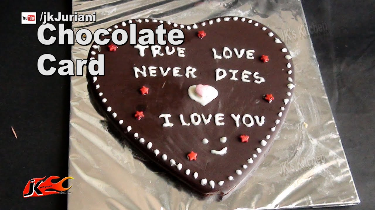 Chocolate greeting card how to make valentines edible cards chocolate greeting card how to make valentines edible cards jks kitchen 054 youtube m4hsunfo
