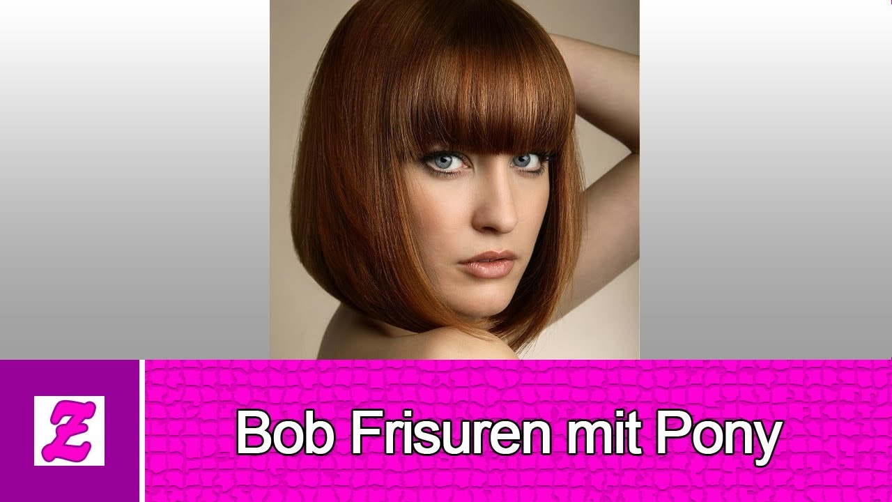 Süße Bob Frisuren mit Pony