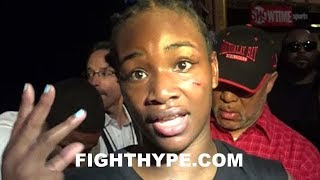 CLARESSA SHIELDS REACTS TO FIRST KNOCKDOWN; REVEALS WHAT WENT THROUGH HER MIND