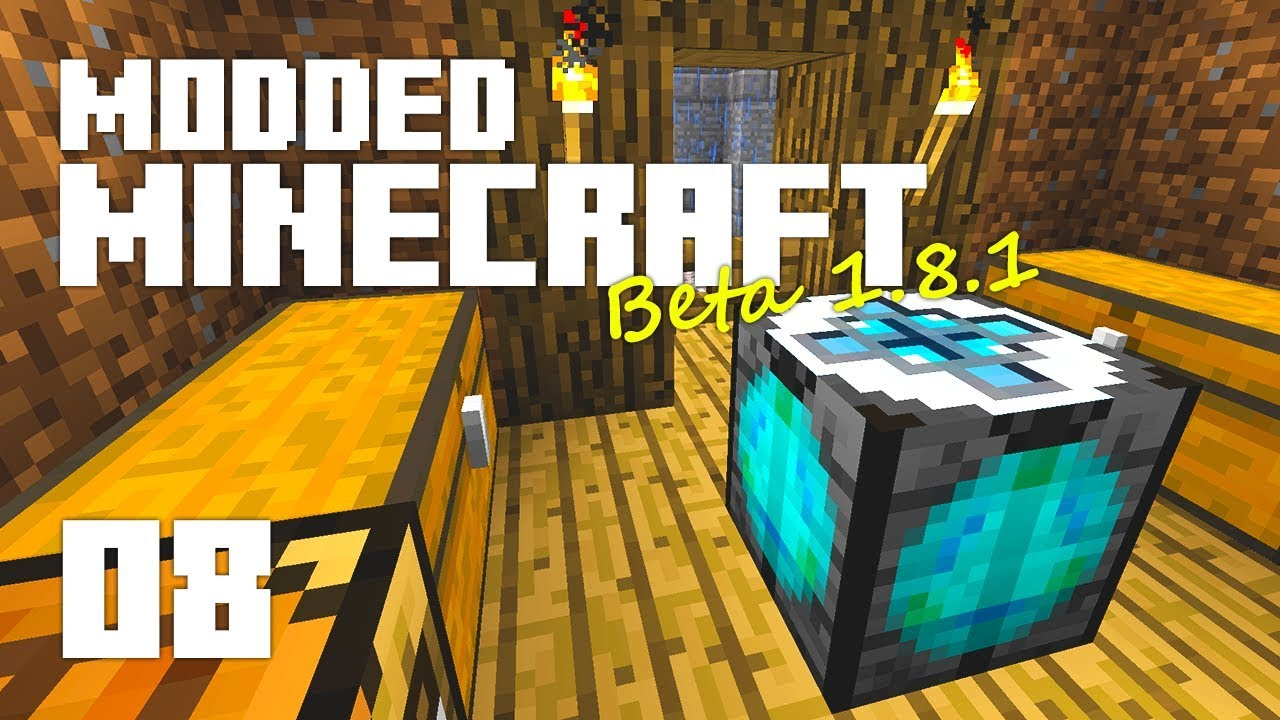 •TRANSMUTATION? | Beta 1 8 1 #8 | Modded Minecraft•