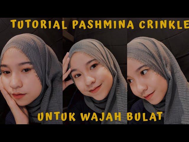 Tutorial Pashmina Crinkle Untuk Wajah Bulat Wrinkle Shawl Tutorial Digta Defrianta Youtube