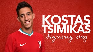 Signing day: Kostas Tsimikas gets his first taste of Melwood & a video call from the boss