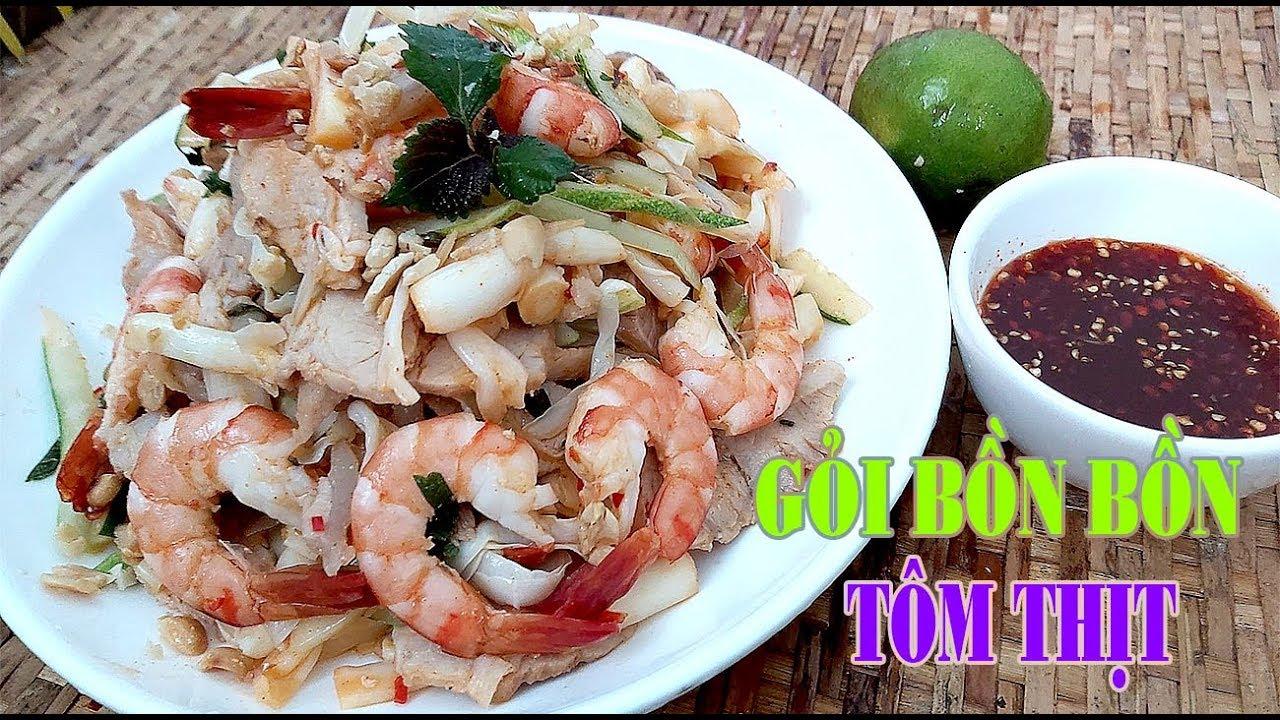 Cách làm món Gỏi Bồn Bồn tôm thịt chuẩn vị của Hồng Thanh Food