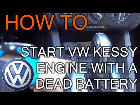 How to start engine on VW Kessy with dead battery