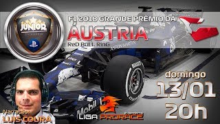 ATIVEGAMERS NO AUTOMOBILISMO VIRTUAL DA PRORACE   F1 2018 PS4 JUNIOR   GP DA AUSTRIA   F1 AO VIVO