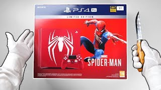 "PS4 Pro ""SPIDER-MAN"" Limited Edition Console! Unboxing Marvel"