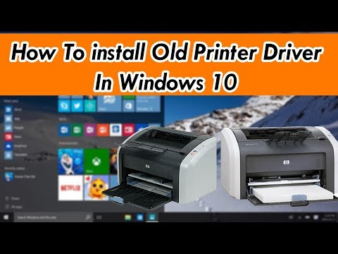 How To Install Old Printer Driver In Windows 10 | By SYED I.T SOLUTIONS ©
