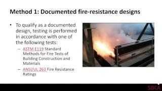 SBCA Technical Webinar: Fire Rated Assemblies & Fire Retardant Treated Trusses