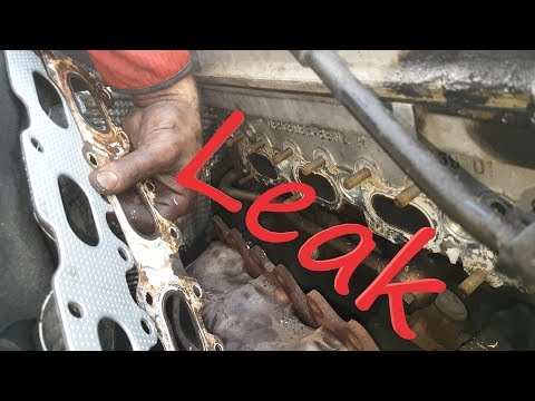Exhaust Manifold Gasket Replacement on Mercedes w203 c200k