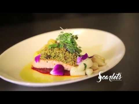 Pistachio Encrusted Salmon at Scarlet's Steaks & Seafood