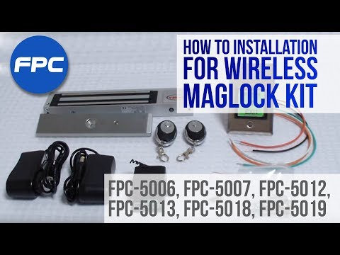 Wireless RF Receiver And Mag Lock Kit Installation Video - FPC Security