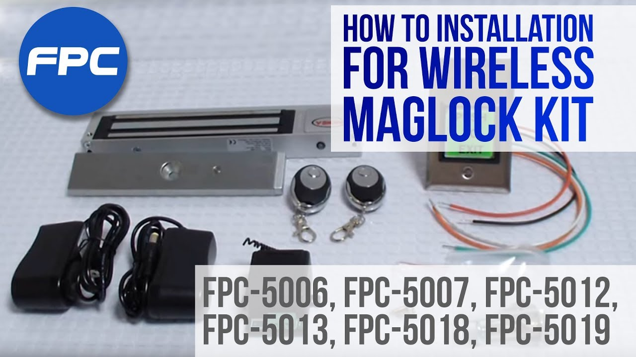 fpc 5019 one door access control inswinging 1200lbs kit fpc security maglocks kit visionis [ 1280 x 720 Pixel ]