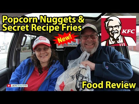 KFC® | $10 POPCORN NUGGETS & SECRET RECIPE FRIES | Taste Test & Review | JKMCraveTV