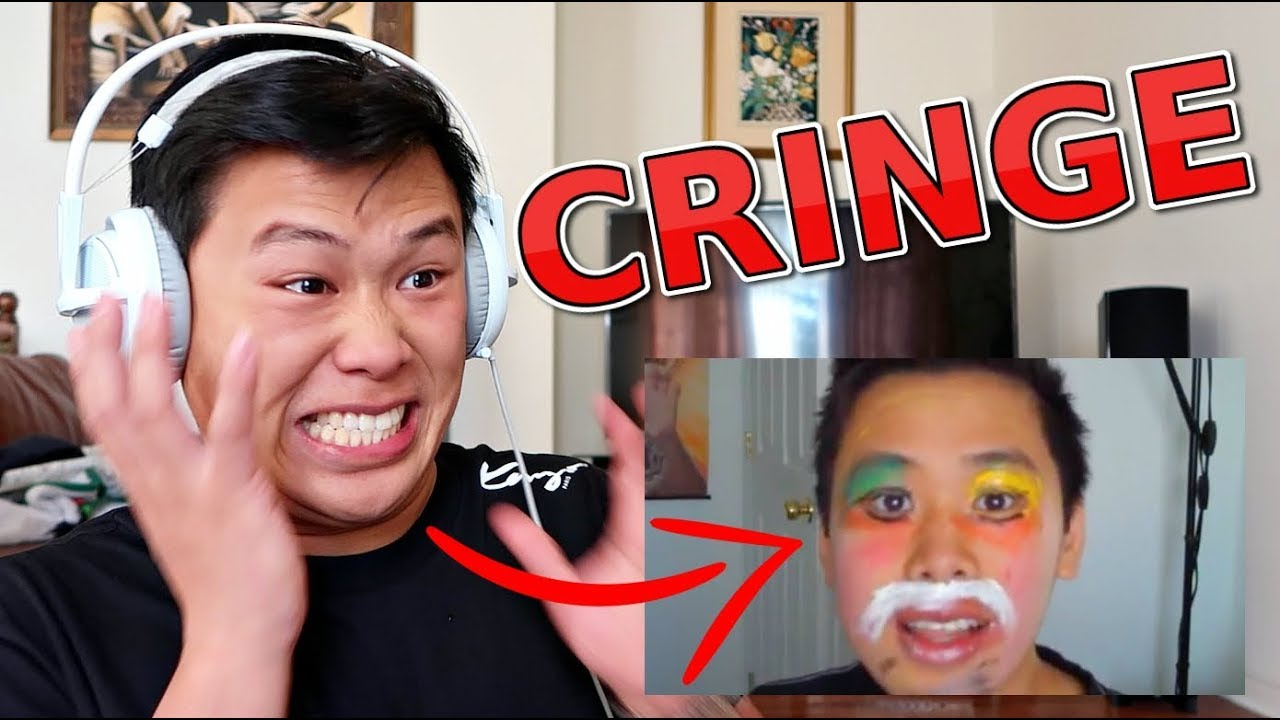 reacting-to-my-first-video-try-not-to-cringe-challenge