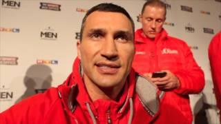 WLADIRMIR KLITSCHKO ON TYSON FURY, DISMISSES GLOVE SITUATION AS NONSENSE & WISHES DAVID HAYE WELL
