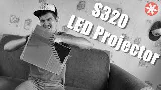 S320 LED Projector Распаковка и первое включение