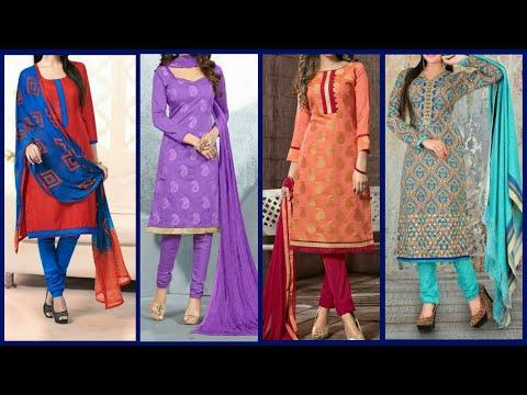 Latest Top 50 Trendy Kurti With Churidar Salwar For Girl 2019 || Designer Kurti