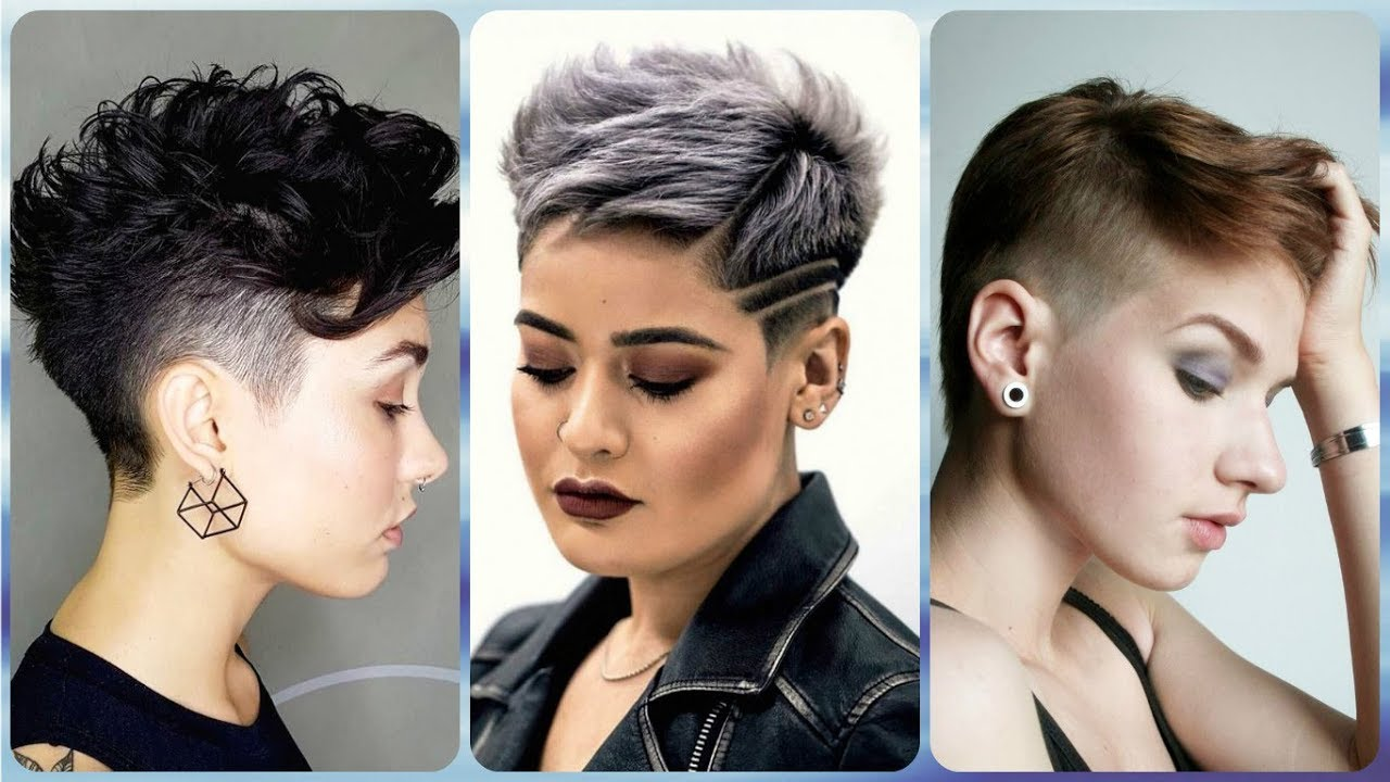 20 Hottest 💓 ideas for women\'s side shaved hairstyles 2019 - YouTube