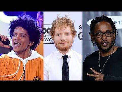 Bruno Mars, Ed Sheeran & Kendrick Lamar TOP 2018 Billboard Award Nominations