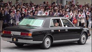 天皇皇后両陛下福島県行幸啓御車列 多くの方々笑顔でお出迎え 郡山駅い...