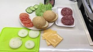 Гамбургер за 15 минут в OptiGrill от Tefal