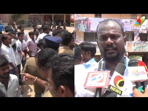 Vijay Fans beaten up by the Police | Theri banner torn in Sivaganga