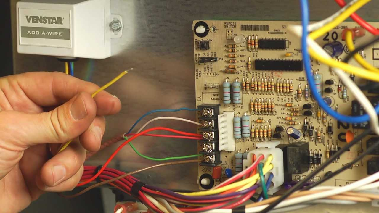 hvac wiring diagram thermostat sony cdx gt210 official venstar acc0410 add a wire installation youtube