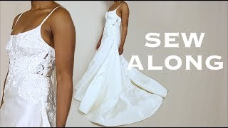 A-Line Wedding Gown Sew Along Tutorial