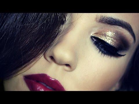 birthday-makeup-tutorial-|-gold-dramatic-makeup-|-themakeupchair