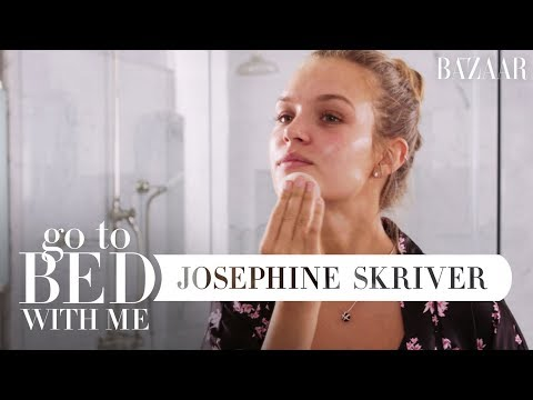 Josephine Skriver's Nighttime Skincare Routine | Go To Bed With Me | Harper's BAZAAR