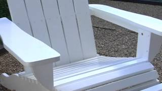 Shoreline Deluxe Adirondack Chair And Ottoman Set White - Product Review Video