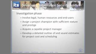 Security Policy Guidelines and Security SDLC