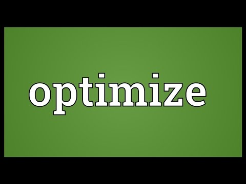 Optimize Meaning