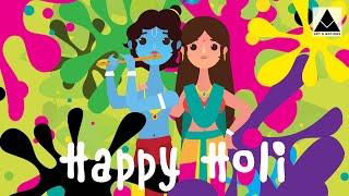 Happy Holi wishes 2020 | Holi whatsapp status | Holi Special Video | Radha Krishna playing Holi