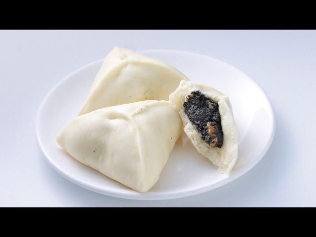 【楊桃美食網-3分鐘學做菜】核桃芝麻包(Steamed Mashed Black Sesame Bun)