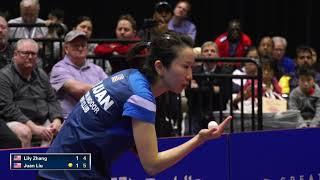 2018 US Open Table Tennis Championships - Womens Final - Liu Juan vs Lily Zhang (Highlights)