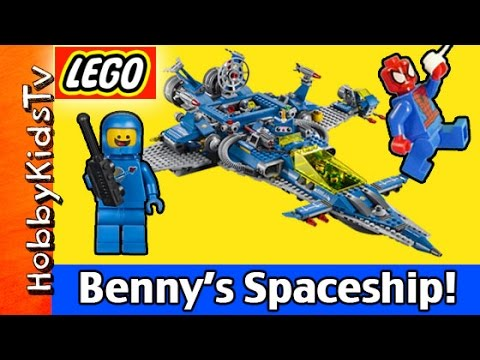 Benny's Spaceship Spaceship Spaceship LEGO Movie 70816 Emmet and Spider-Man HobbyKidsTV