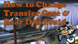 How to change transfer case and rear diff fluid on a 1988-1998 chevy k1500